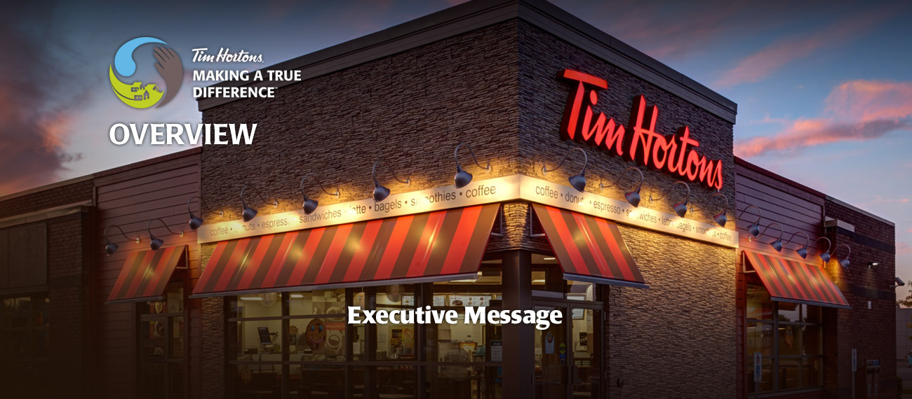 Tell me what Tim Hortons means to you and your community.?
