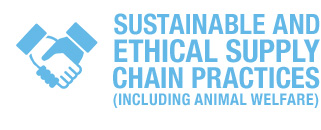 Sustainable and ethical supply chain practices(including animal welfare